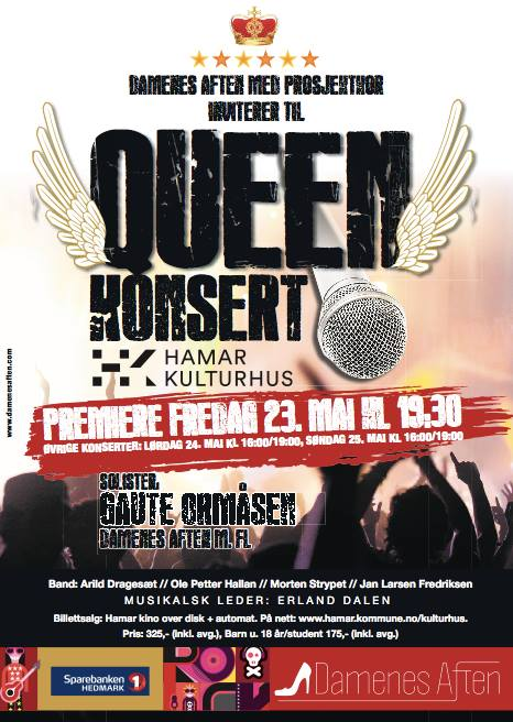 queenkonsertplakat. screen