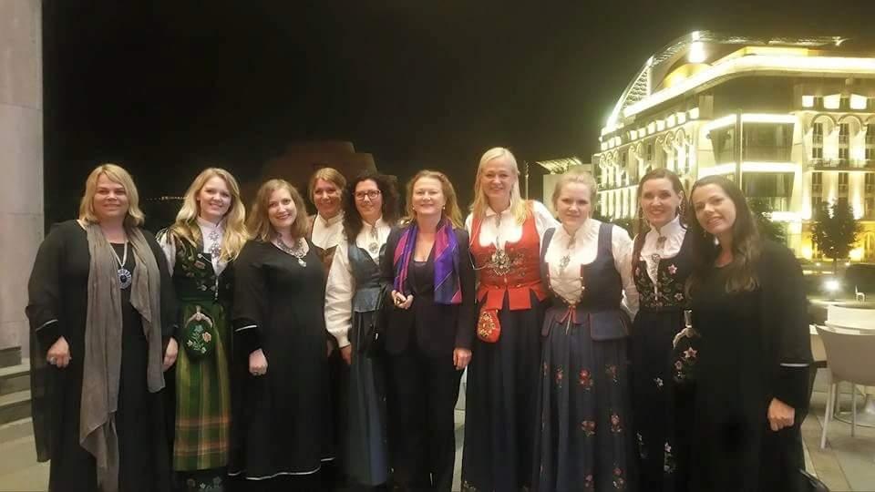 Vi hadde også gleden av å møte Ambassadør Skarstein, fra Den Norske Ambassaden i Ungarn.
