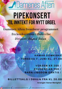 Pipekonsert – til inntekt for nytt orgel!