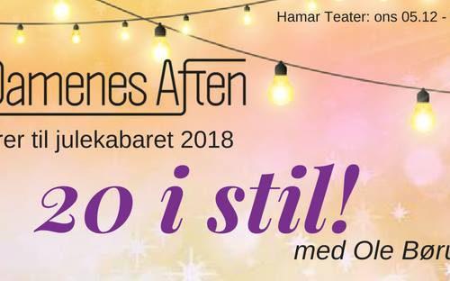 Banner for Damenes Aften Julekabaret 2018