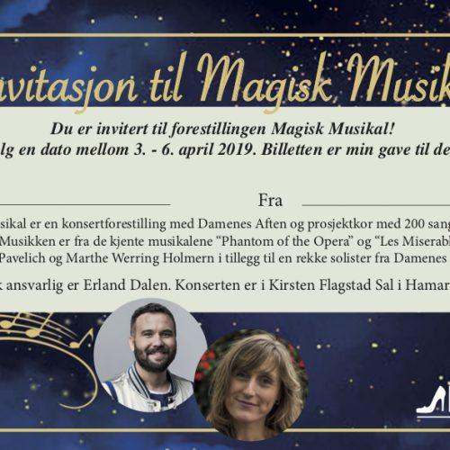 Gavekort til magisk musikal 2019