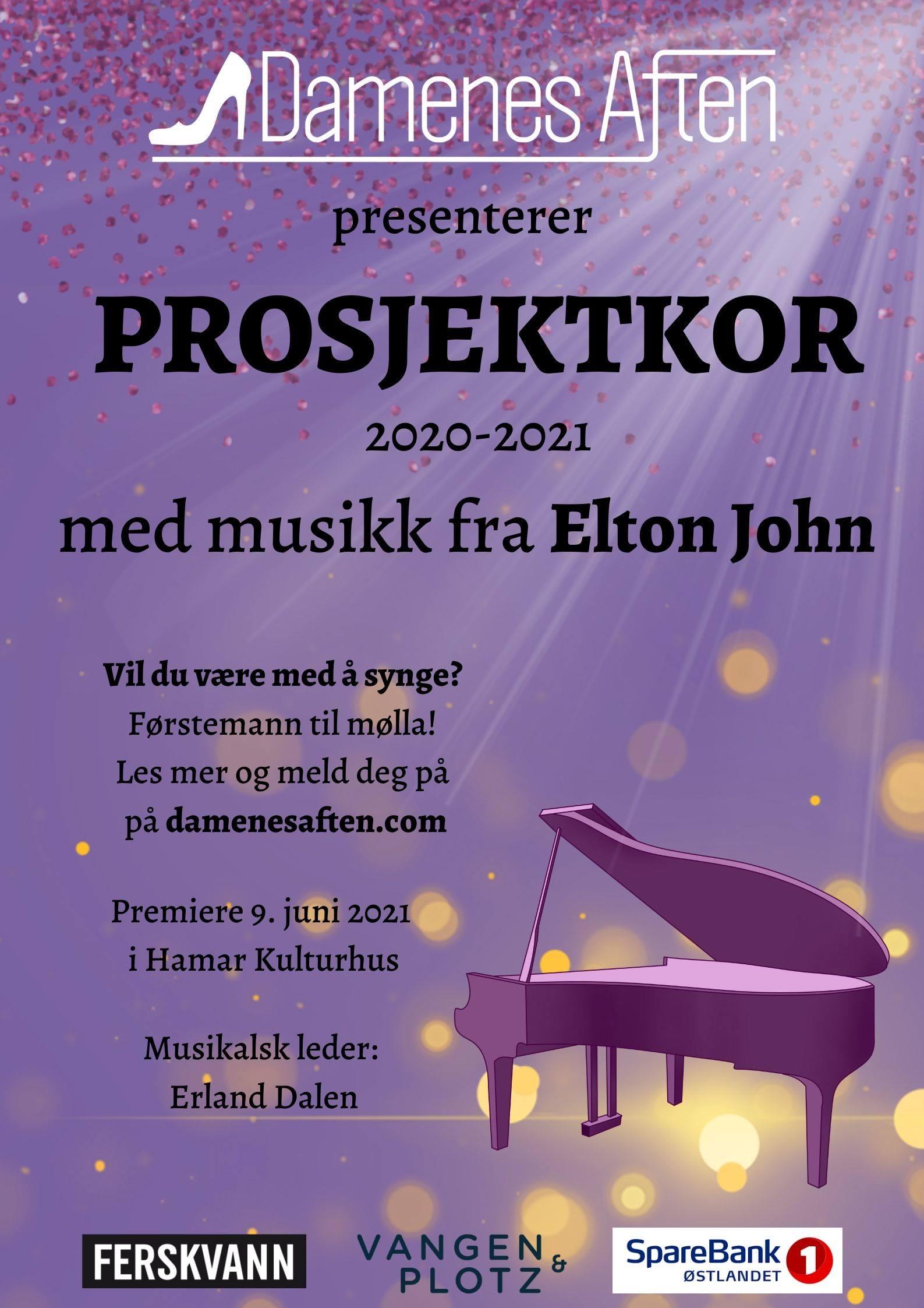 Informasjon om Prosjektkor 2021 – Elton John